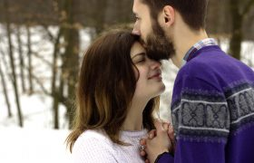 Get Healthy Skin By Pulling Away From A Bearded Man's Sensual Kiss