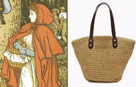 3 Woven Straw Bags That Say 'Into the Woods to Grandmother's House!'
