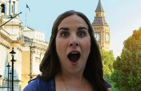 White Friend Excited for Exotic Travel to London