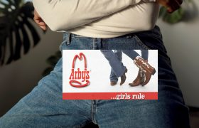 Girl Boss Alert! Woman Decides To Sell Ad Space in Area Between Her Jeans and Belt