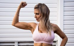 woman flexing arm