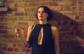 Phoebe Waller-Bridge smoking a cigarette as Fleabag