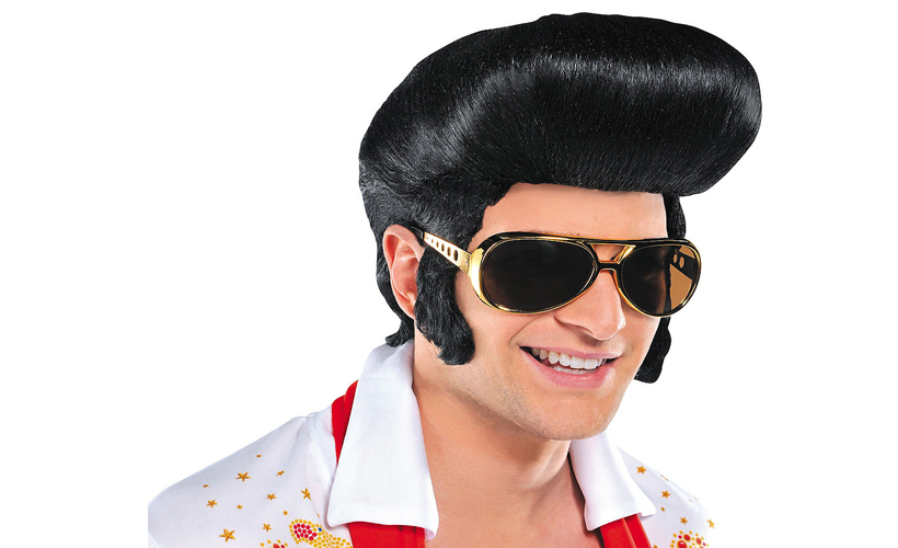 How to Make Your Thin Hair Look Thicker By Wearing This $6 Elvis Wig From Party City