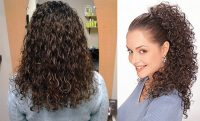 women with curly, crispy hair