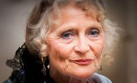 old woman serious looking