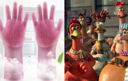 Dishwashing Gloves and Chickens from Chicken Run