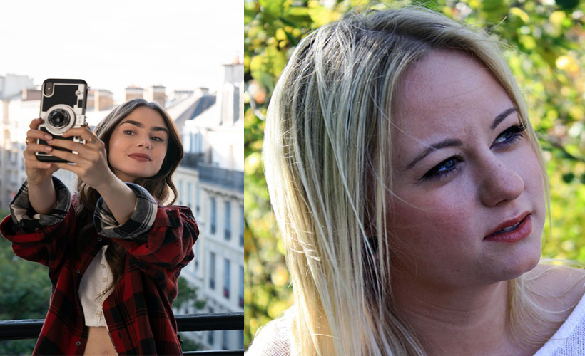 emily in paris next to woman