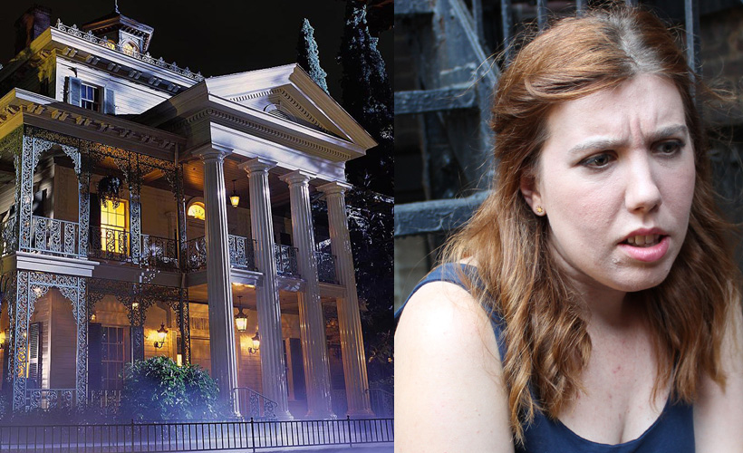 haunted manor, woman