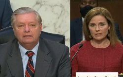 lindsey graham and amy coney barrett at senate confirmation hearing