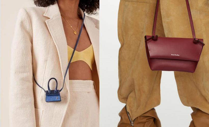 2 side by side tiny purses