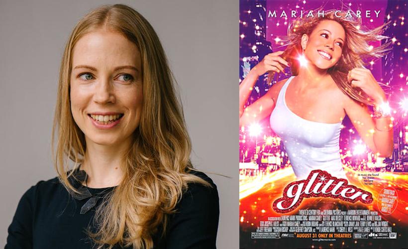 Woman beside Glitter Poster