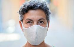 mask woman older
