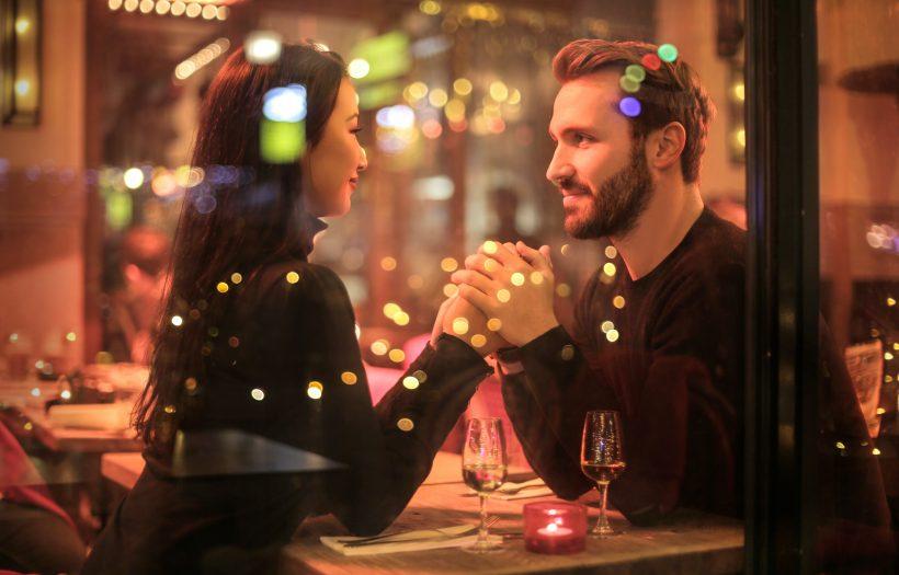 man woman date